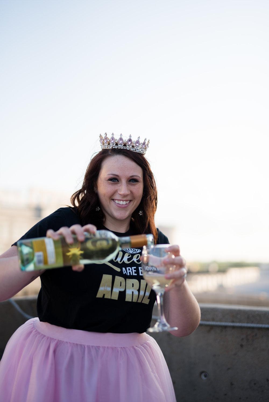 Downtown Mobile AL Cityscape Superhero + Queen Birthday Photoshoot by Kristen Grubb Photography