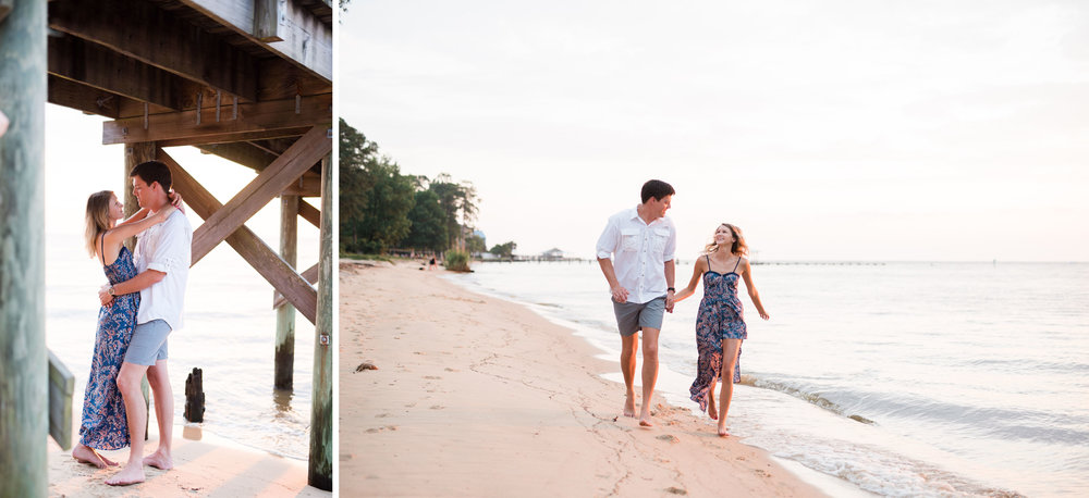 Engagement Session in Downtown Fairhope by Kristen Grubb Photography