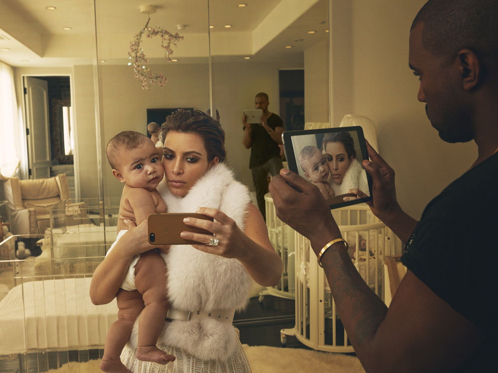 Kim Kardashian, North West, and Kanye West, Los Angeles, 2014 Annie Leibovitz