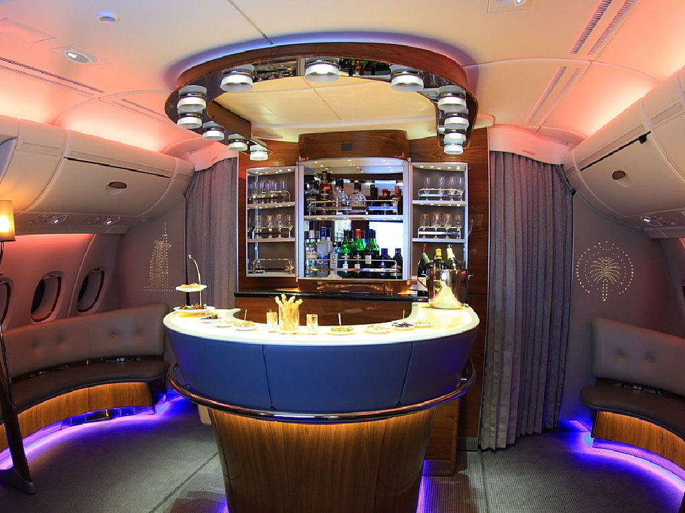 Air Emirates' in-flight bar