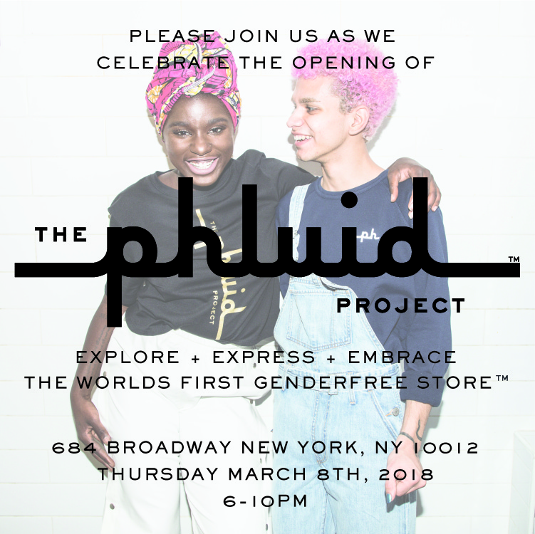 The world's first genderfree store™. Through self-expression, The Phluid Project empowers individuals to explore identity.