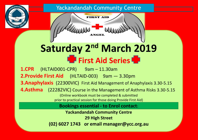 2Provide First Aid HLTAID003  Saturday 2nd March 2019 landscape.jpg