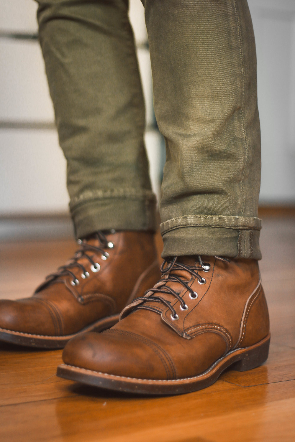 Classic Style - The Iron Rangers go with almost any denim shade and look miliatry-esque with these olive green jeans from RL