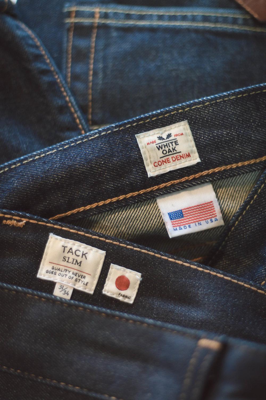 Levi's White Oak Cone Denim and Japanese Selvedge
