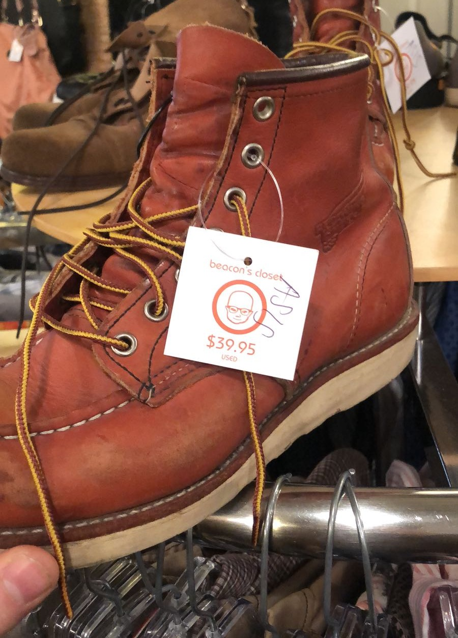 Red Wing 875 Moc Toes found at Beacon's closet in Williamsburg