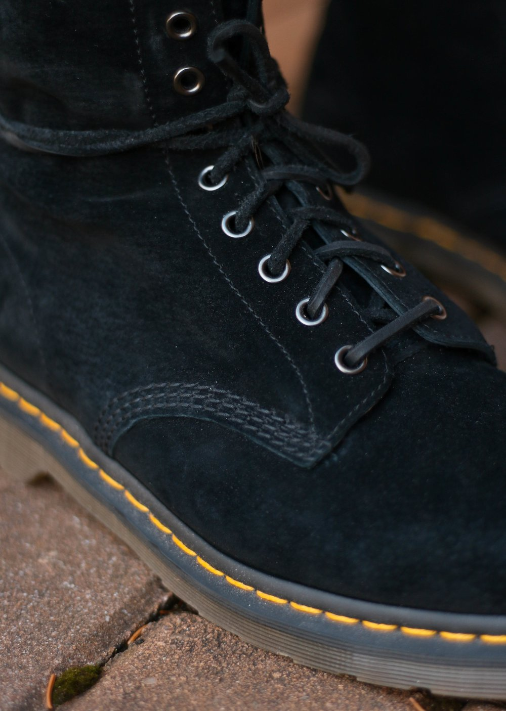 See that there is almost no space between the eyelets on these Doc Martens, indicating too much room in the boot, and a lot of friction.