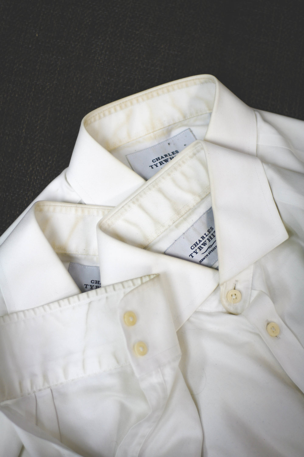 YUCK! Let's get rid of these horrible yellow stains that come in shirt collars, cuffs, and armpits