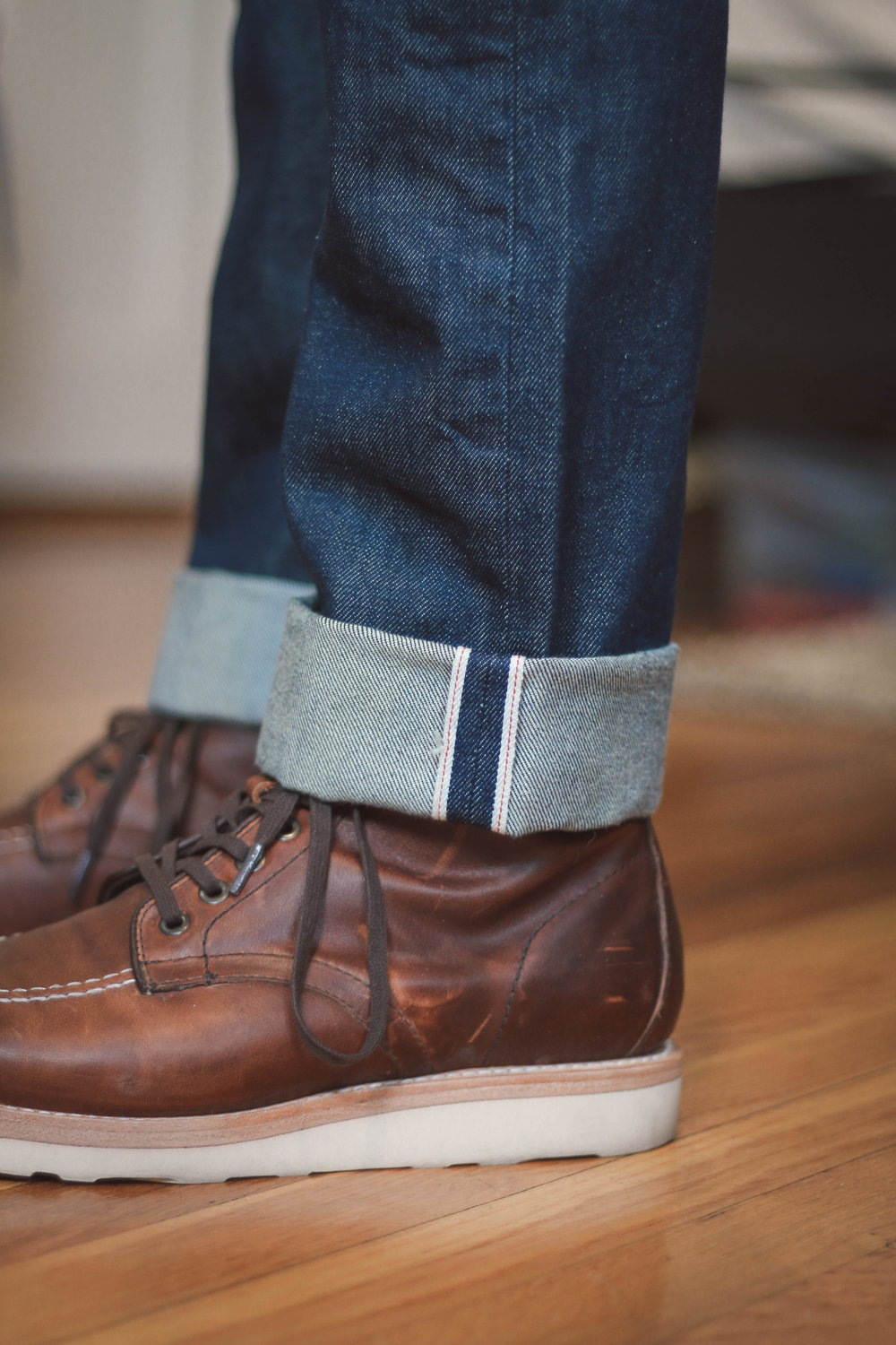 Made in USA Levi's jeans made from USA milled Cone Denim (now discontinued)in the 511 slim fit
