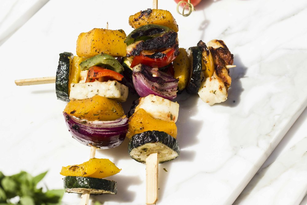 Beautiful Vegetarian BBQ Skewers
