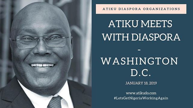 On January 18, 2019 Atiku traveled to Washington D.C. to meet with Nigerians, community leaders and to lead a round table at the U.S. Chamber of Commerce. #LetsGetNigeriaWorkingAgain - Watch the video at buff.ly/2DxfR4b.
