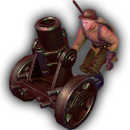 Mortar - Cheaper and faster than Artillery, the Mortar supresses enemies from a decent distance.+ Long range indirect attack.- Vulnerable to direct attack.- Can't move and attack in same turn.