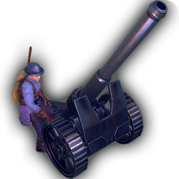 Artillery - Artillery has the longest range of any unit in the game - perfect for laying down suppression from afar. Just don't let it get flanked!+ Longest range indirect attack.- Very vulnerable to direct attack.- Slow.- Can't move and attack in same turn.