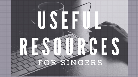 Useful Resources for Singers
