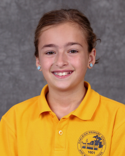 Hi, my name is Evangelia. I am one of the Vice-Captains at Oakleigh Primary. I am 11 years old and I have two other siblings at this school, one in Year 4 and one in Year 1, and I have an amazing mum and an incredible dad. I like doing gymnastics, dance, netball and swimming. I applied to help the school become a happier place and to help the school in general. What I hope to achieve in 2019 is to be more grateful for what I have and to be happier than I already am.