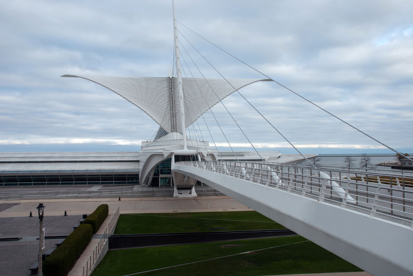 The Calatrava - The Milwaukee Art Museum ( The Calatrava) Considering our beer buzz was alive and kicking, we decided to get inspired and roam through the majestic art filled walls of The Calatrava. One of the largest museums in the U.S., this grand structure stands tall on the shores of Lake Michigan and is filled with everything from German Expressionism to American Art after 1960. This place also holds one of the largest collections by Georgia O. Keefe, one of the greatest artists ever. One of Mary's personal favorites, she is known for her landscape paintings along with her flower paintings. Mary couldn't shut up about her! Definitely a hot spot to check out.