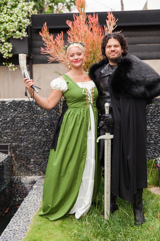 Jon Snow and his maiden