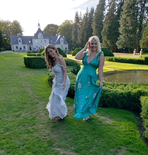 Girl Talk at the amazing Norvikken Grounds! This is where the wedding took place!