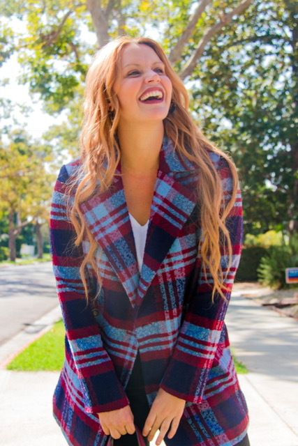 My favorite Fall Trend! I am so in love with this Plaid Jacket and the beautiful colors!    Jacket: Forever 21: Plaid Double-Breasted Coat: $59.90