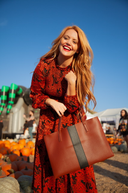 It wouldn't be a trip to the pumpkin patch without this cute fall bag from Vince Camuto!    Bag: Vince Camuto (Price: N/A)
