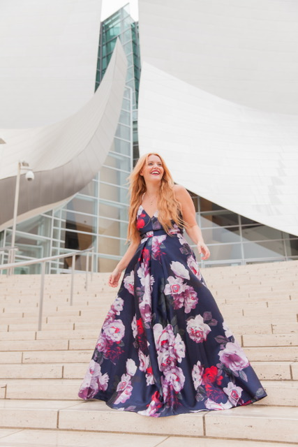 Rocking my new favorite Calvin Klein Floral Dress for Fall! I love the deep colors in the dress!  Dress:  Calvin Klein Floral-Print Plunge Gown: $299 (Available at Macy's)