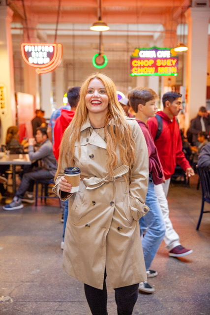 Being a tourist in my London Fog Trench Coat!  Coat:  London Fog: Audrey Women's Double- Breasted Trench Coat- $119 (Available at Macy's)