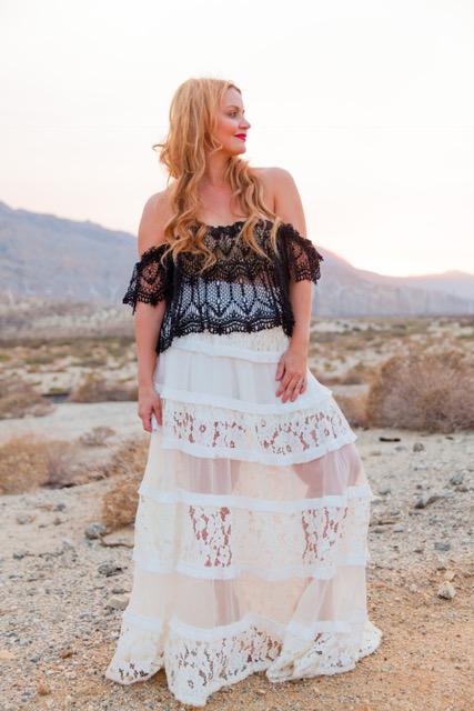 Lace is my favorite in the desert! I feel like a senorite! My skirt is from Zimmerman!    Skirt: Zimmerman