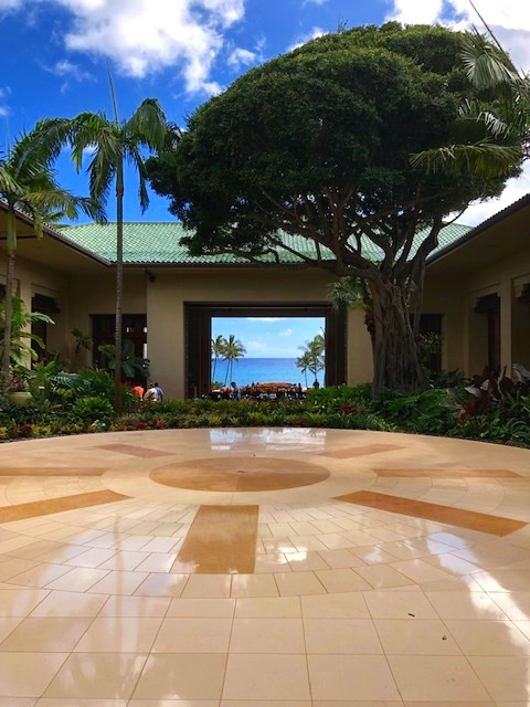 The astounding view from the lobby entrance!