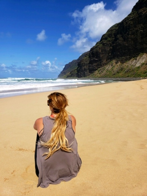 Beach Bum! How beautiful is Kauai!