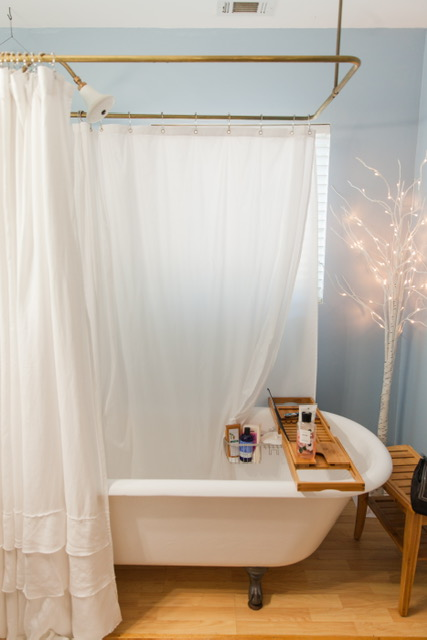 One of the bathrooms located in the bedrooms upstairs! So pretty!