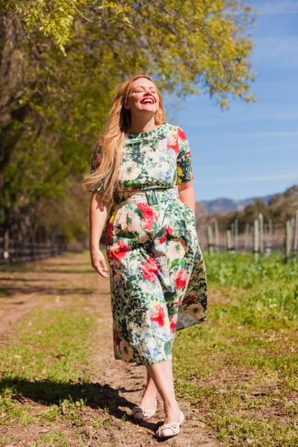 Taking a stroll around the vineyards!
