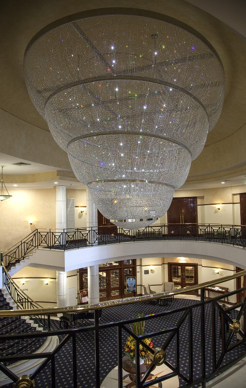Crystal chandelier for the epping club