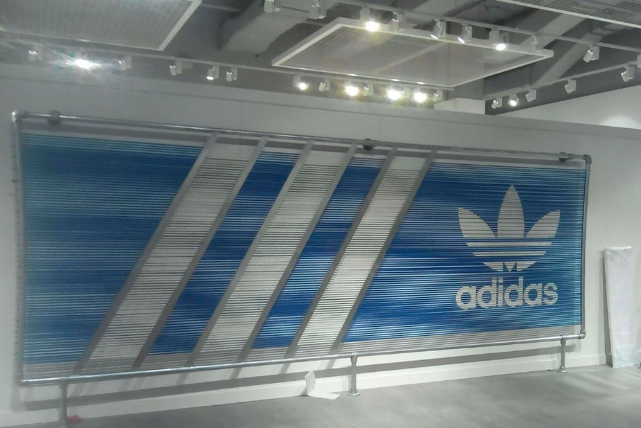 Fabricated Rope Screen, Adidas Pop-up Store, Rhodes