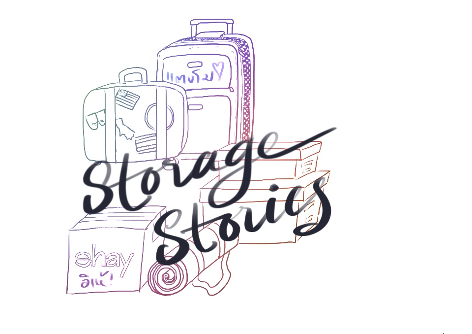 """1st draft logo for my Youtube Channel """"Storage Stories"""". Procreate app on iPad Pro. October 2018."""