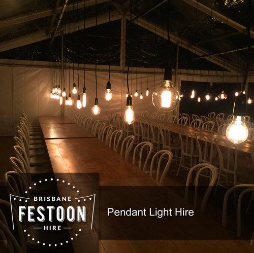 Brisbane festoon hire pendant light hire 1 jpg