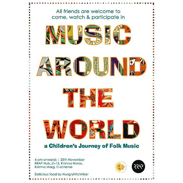 We are delighted to invite you to the final showcase of our Children's Music Workshops!  Led by @sallyjaquet,a community musician from Scotland, we have been learning about folk music from countries all around the world – from Australia to Nigeria to Thailand to Brazil (and many more!) We would love for you to join us and see what the children have learnt, as well joining in with interactive sessions for all – there will be singing, dancing, playing of instruments, and lovely food to be enjoyed by @hungryhitchhiker #childrensmusic #worldfolk #musicworkshop #jaipur #pinkcity #rajasthantourism #rrapsters #jaipurvirasatfoundarion #communitymusic