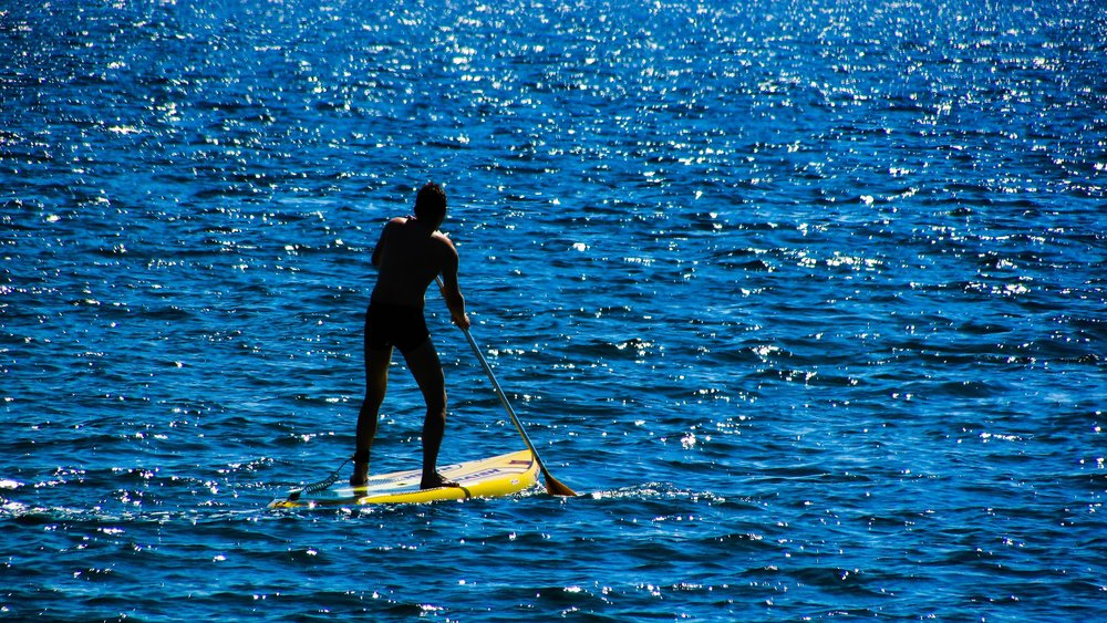 Some of the watersports available is paddle boarding