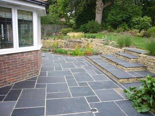 Brazillian Black Slate Paving