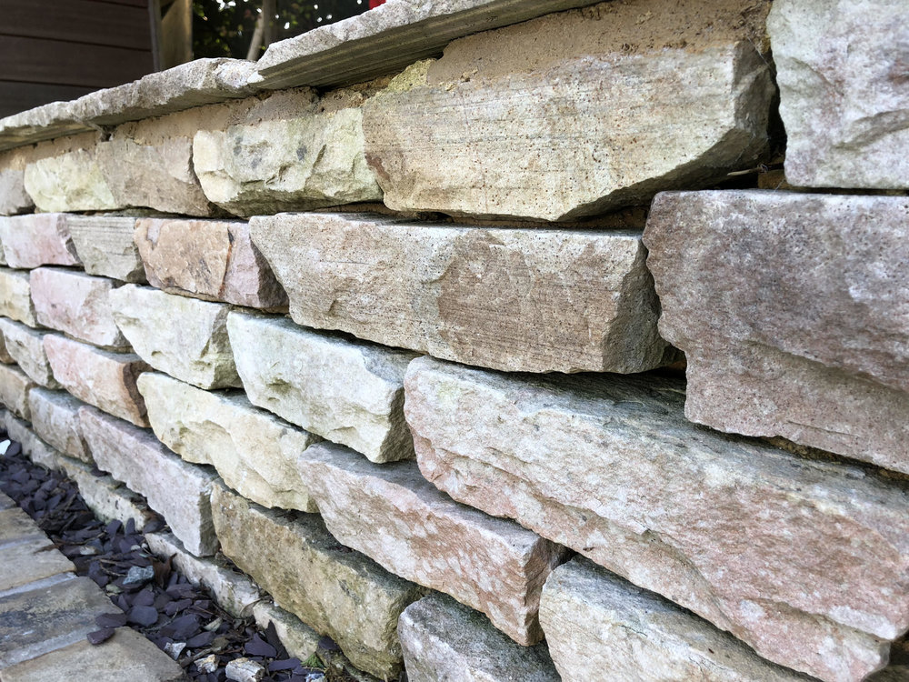 Indian Sandstone Tumbled Walling -   Click for colour choices, pricing and more information.