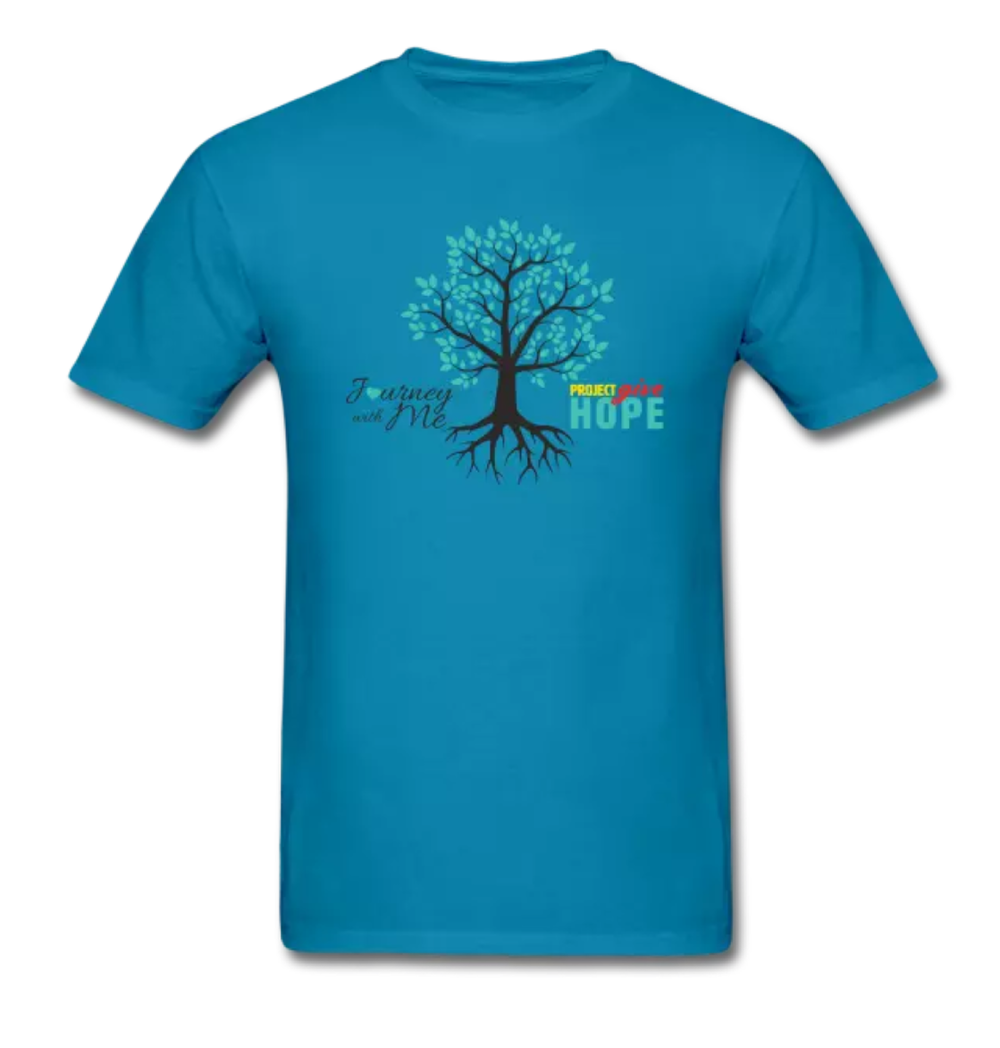 Journey With Me and Project Give Hope apparel… - Journey With Me and Project Give Hope have collaborated on several clothing and apparel pieces to show their support and desire to make a difference with Cervical Cancer. We hope to give back in so many ways with these beautiful items. There are additional items and color options in the link below…