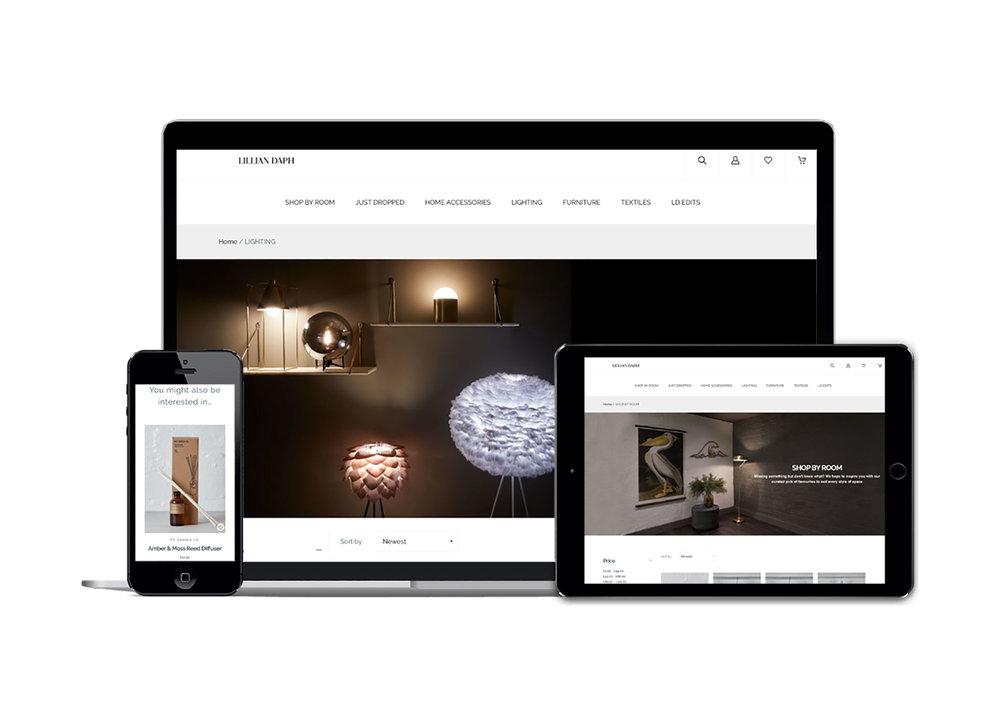 Fully optimised e-commerce platform for lifestyle store Lillian Daph
