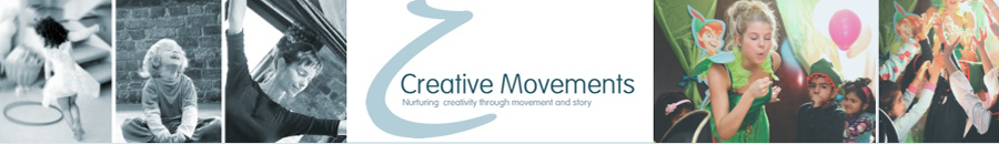 Creative Moments - Classes, Parties and Workshops -Through lively classes we invite children to participate in stories and movement in order to encourage independent thought and enquiry, with the aim of nurturing inner contentment and responsibility.In this day of push button technology, Creative Movements inspires children to access and 'hold on' to their own inner resources, which without cultivating can remain dormant. Our material is educational and creative, encouraging both group interaction and individuality.Website: www.creativemovements.co.uk