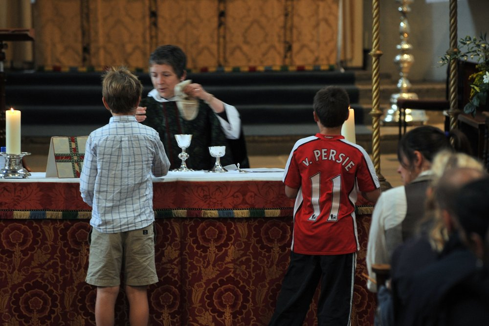 Informal Eucharist   Every 2nd and 4th Sunday of the month at 9:15 am   The service is a simplified version of the parish Eucharist, with a gospel reading, a very short all-age talk and easy-to-sing songs.