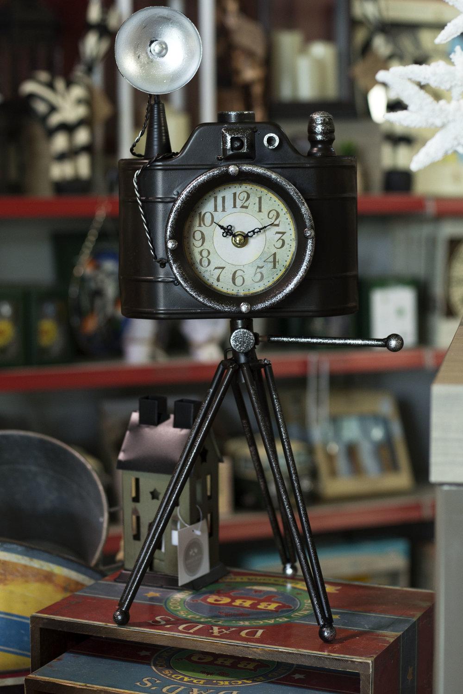 camera clock lamp