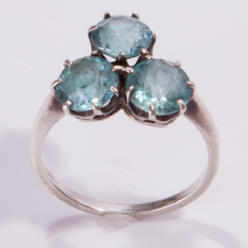 antique ring topaz silver