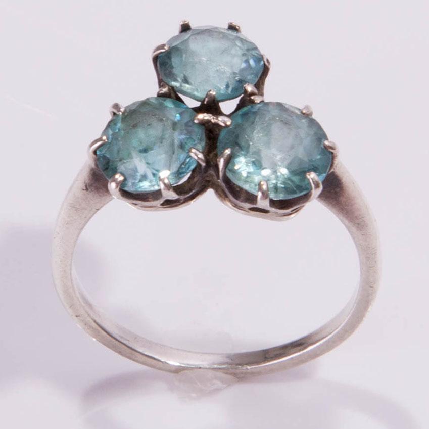 antique ring topaz silver