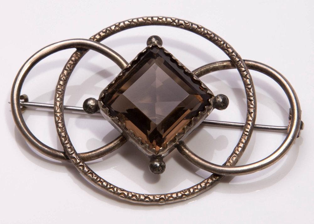 Cairngorm brooch