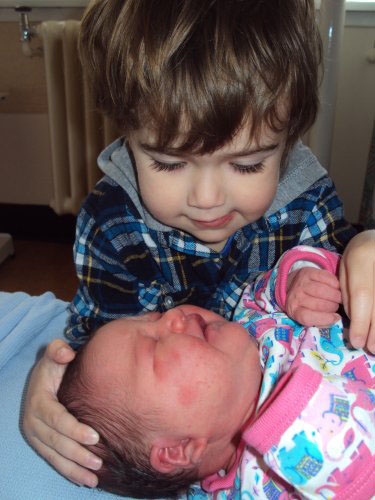 meeting new baby sister