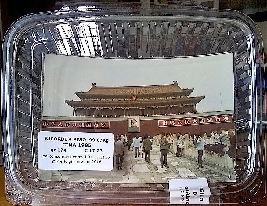 Pierluigi Manzone,  Cina 1985 , Serie  Ricordi a peso , 2016