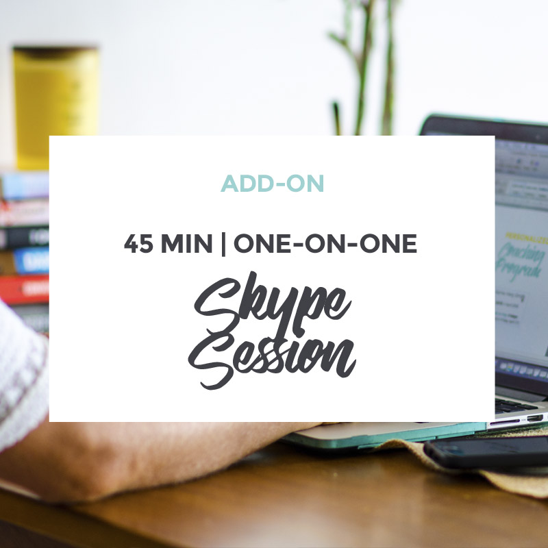 Add-on One-on-One Skype Session