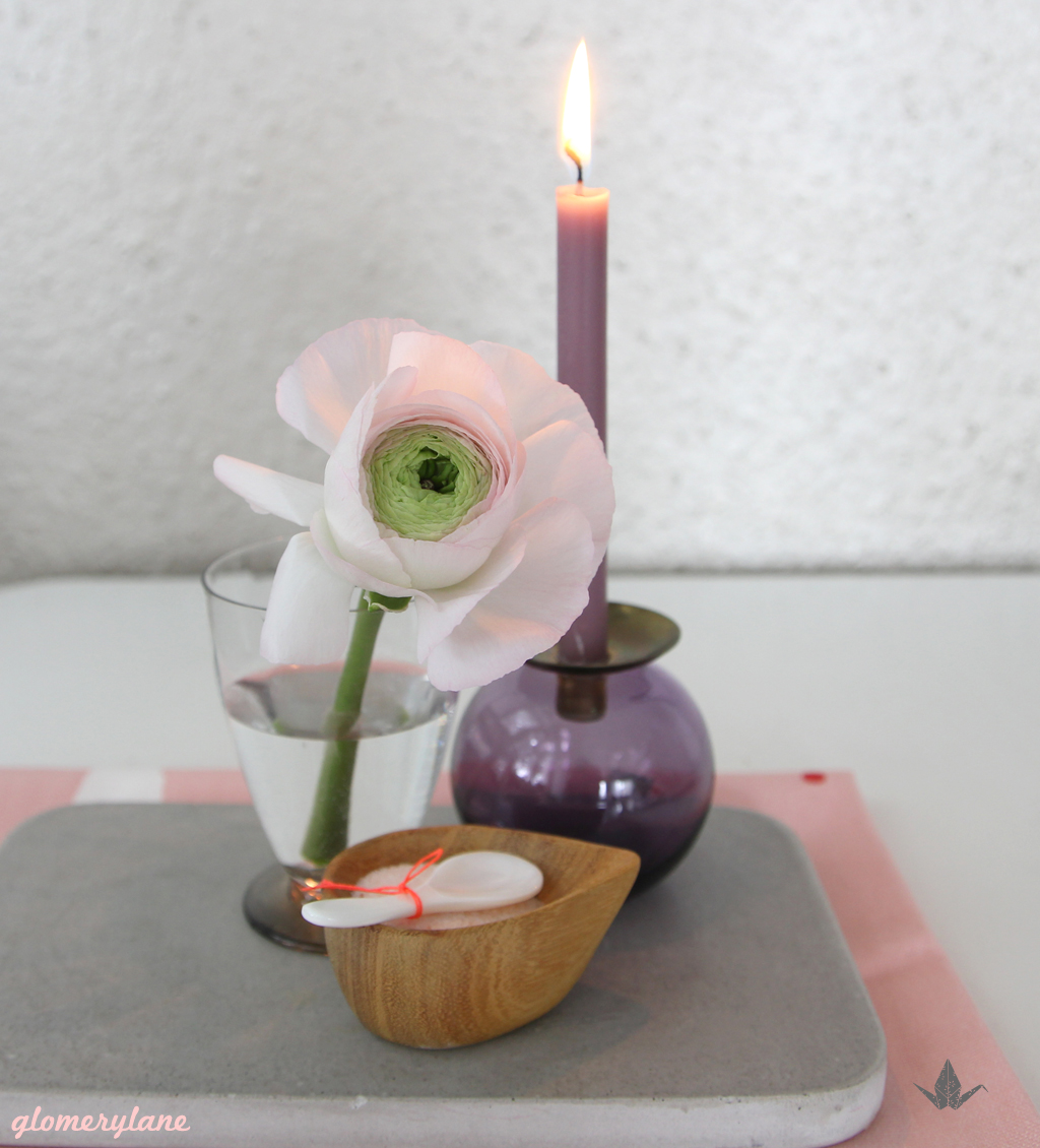 Ranunculus with candle by glomerylane